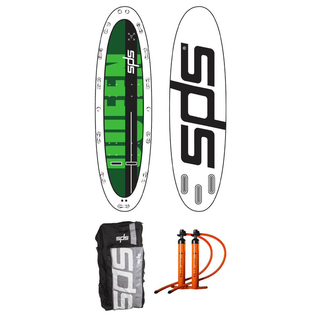 Queen, the ideal inflatable board for river descents and group walks